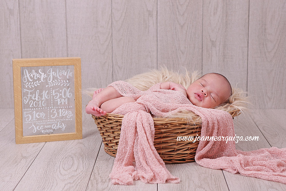 Amara juliana newborn photos by joanne arquiza
